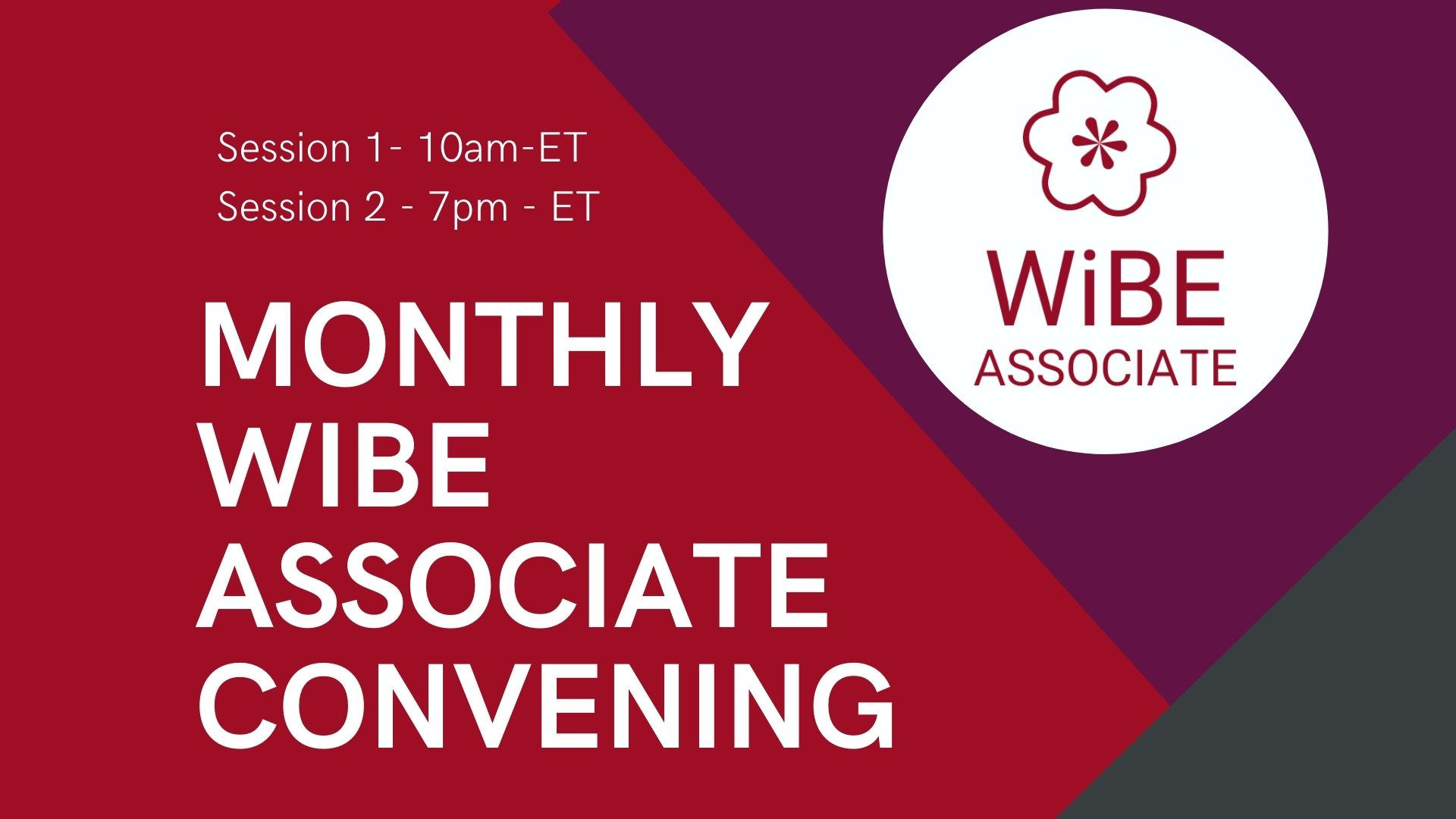 ASSOCIATE Session 1: June 17 Monthly Convening