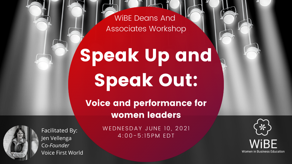WORKSHOP: Speak Up and Speak Out - Voice and performance for women leaders